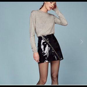 Reformation Owen patent leather mini skirt black 4